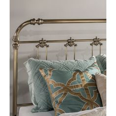 Hillsdale Furniture Samantha Metal Queen Headboard (580 CAD) ❤ liked on Polyvore featuring home, furniture, beds, hillsdale furniture, metal head boards, metal headboards, queen bed and metal furniture