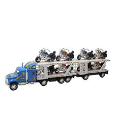 This Toy Hauler Truck & Trailer by X-Toys is perfect! #zulilyfinds