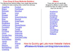 This page is going to show you dozens of the very best ways to bring quality, natural, organic, unique, visitors to your website 100% free and, as it turns out, the free methods of getting unique visitors to your website... Read more