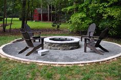 Crushed Granite Fire Pit