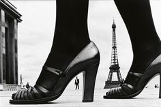 Frank Horvat, Paris, Shoe and Eiffel Tower, 1974