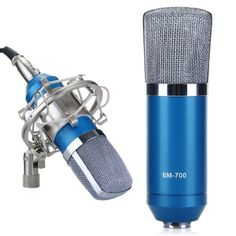 EXCELVAN® Condenser Microphone Recording Mic with Shock Mount BM-700 Ideal for Radio Broadcasting Studio, Voice-over Sound Studio and Recording-Blue Excelvan® http://www.amazon.com/dp/B00K8178H4/ref=cm_sw_r_pi_dp_d1kZtb123RHNXB1F