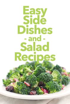 Easy Side Dishes and Salad Recipes