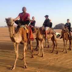 Our #TravelAdventurer doing his signature pose on the camel in  #WadiRum! #GrabYourDream #Jordan