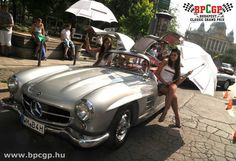 Check out the original Gullwing Mercedes on a sponsored vintage car race . Budapest, Grand Prix, Vintage Cars, Racing, Bmw, The Originals, Vehicles, Classic, Check