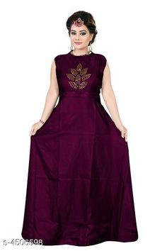 Gowns Stylish Taffeta Silk Diamond Work Women's Gown Fabric: Taffeta Silk Sleeve Length: Three-Quarter Sleeves Pattern: Printed Multipack: 1 Sizes: XL (Bust Size: 42 in Length Size: 55 in Waist Size: 38 in Hip Size: 43 in)  L (Bust Size: 40 in Length Size: 55 in Waist Size: 36 in Hip Size: 41 in)  XXL (Bust Size: 44 in Length Size: 55 in Waist Size: 40 in Hip Size: 45 in) Country of Origin: India Sizes Available: L, XL, XXL   Catalog Rating: ★4.1 (779)  Catalog Name: Stylish Taffeta Silk Diamond Work Women's Gowns CatalogID_651197 C79-SC1289 Code: 843-4506598-138