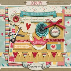 Free Scrappy Mini Kit from Forever Joy via Quality DigiScrap Freebie