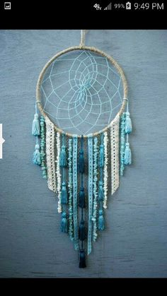 Sea Dreamcatcher by catchingthesea on Etsy Dream Catcher Craft, Dream Catcher Boho, Crafts To Sell, Diy And Crafts, Arts And Crafts, Dreamcatchers, Beautiful Dream Catchers, Bohemian Decor, Wind Chimes