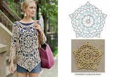 Crochet Granny, Crochet Clothes, Crochet Dresses, Crochet Tops, Headbands, Textiles, Clothes For Women, Knitting, Pattern
