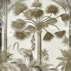 Shadow Palms • Tropical Palm Tree Mural • Milton & King USA Palm Tree Wallpaper Mural, Bird Wallpaper, Summer Garden, One Light, Palms, Palm Trees, All The Colors, Tropical, Palmas