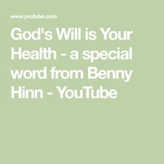 From his prayer room in his home Pastor Benny Hinn shares a powerful teaching about how God's Will is for you to enjoy a life of health and wholeness. Benny Hinn, Acts 1, Special Words, Prayer Room, Oppression, Holy Spirit, Prayers, Faith, Teaching