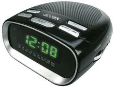 Jensen JCR-260 Phone Charging Dual Alarm Clock Radio - iPod, iPhone & Smartphone Alarm Clocks