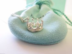 Rare Regal Authentic Tiffany & Co Sterling Silver Heart Crown Necklace by Tiffanytreasureshop on Etsy