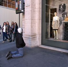 love at first sight. mannequins have emotions too! Mark Jenkins