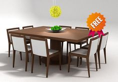Dining set FDV300 | 3D Model
