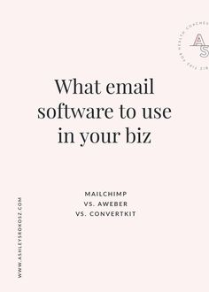 What email SOFTWARE should you use in your business: MailChimp, AWeber, or ConvertKit? Click to get the complete breakdown of each platform, plus a free video showing you all about ConvertKit. This is perfect for holistic nutritionists, health coaches, yoga teachers, naturopaths, and chiropractors! #EmailSoftware #Mailchimp #BrandingTips #BusinessTips #OnlineBusiness