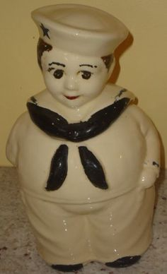 /vintage-shawnee-sailor-boy-cookie-jar- Displayed in my china cabinet in Honor of Paul Gust McAffee and Steven Paul McAffee