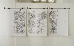 Drawings made whilst moving through the landscape