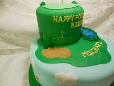 Golf Cake.  Can you spot the error?  Don't worry, It was fixed before the event! ;-)