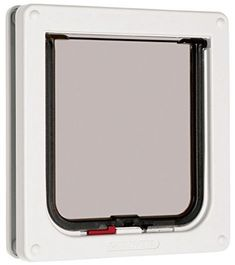 Cat Door Flap Original 2-Way Outdoor Indoor Thin Wall Lockable White | Pet Supplies, Cat Supplies, Doors & Flaps | eBay!