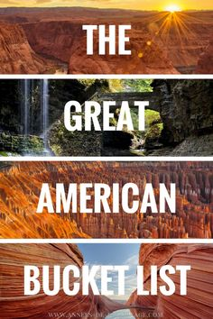 The great american bucket list. 20 amazing places in the USA you have to visit before you die. Click for more.