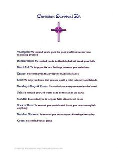 How to Make a Christian Survival Kit