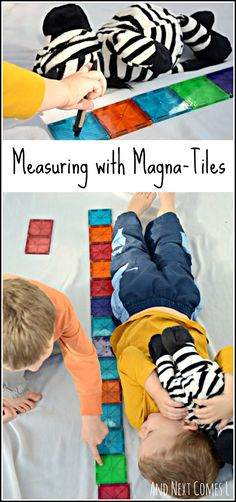 Elementary math for kids: measuring with Magna-Tiles from And Next Comes L