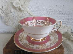 Vintage Royal Grafton Bone China Tea Cup and Saucer Made in