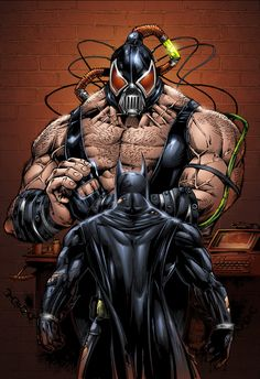 Batman vs Bane Colors _02 by MARCIOABREU7.deviantart.com on @deviantART