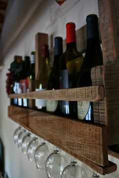 Reclaimed Pallet Wine Rack via Etsy