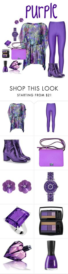 """purple"" by cynthiahawthorne ❤ liked on Polyvore featuring Matthew Williamson, Erika Cavallini Semi-Couture, Paris Texas, Dolce&Gabbana, Christian Dior, StyleRocks, Lancôme, Diesel and Nubar"