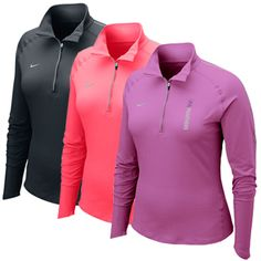 Nike women's 1/4-zip dir-fit long sleeve shirt - Violet, black, or pink - $64.99