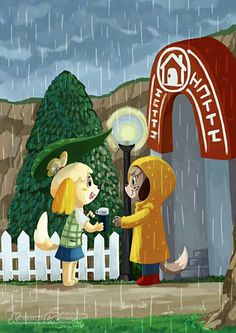 I always thought of this on rainy acnl days