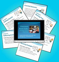 Transform bored readers into passionate readers - Classroom Book Clubs: Literature Circles Made Easy. This complete eLearning course makes it super easy to implement book clubs in your classroom. It includes 5 slidecasts, a quick-start guide, 27 pages of printables, a study guide and more. $