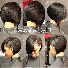 The perfect bob gives your hair lots of movement. I love this sassy bob by… Easy Hairstyles For Long Hair, Short Bob Hairstyles, Black Women Hairstyles, Girl Hairstyles, Quick Weave Hairstyles Bobs, Braided Hairstyles, Short Hair Styles Easy, Short Hair Cuts, Medium Hair Styles
