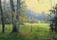"""Open Gate by Perry Austin Oil ~ 24"""" x 36"""""""