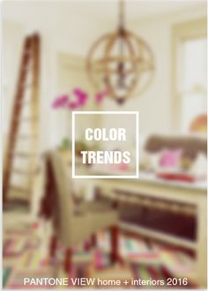 Pantone Color Institute has unveiled its annual trend forecast for interiors for the coming year. There are nine palettes in the PANTONE VIEW home + interiors 2016 – Innovation and Impact, a colo...