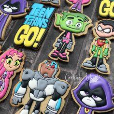 Teen Titans Go! #teentitansgo #teentitansgocookies #handcutcookies #charactercookies #allhandpiped #decoratedcookies #icingcookies… Teen Titans Go, Royal Icing Cookies, Bob Styles, Cookie Decorating, Superhero, Curly Bob, Character, Instagram, Naturally Curly