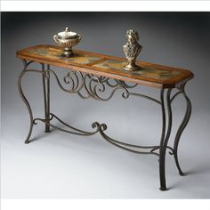 Shop for the Butler Specialty Company Metalworks Console Table at BigFurnitureWebsite - Your Furniture & Mattress Store Iron Furniture, Accent Furniture, Home Furniture, Iron Console Table, Entryway Console Table, Wrought Iron Decor, Small Space Interior Design, Wood Stone, Into The Woods