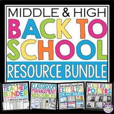 BACK TO SCHOOL: Back to school time can be chaotic! This middle and high school resource bundle will keep you calm, organized, and ready for back-to-school! This is one of the top selling resources on Teachers Pay Teachers! TEACHER