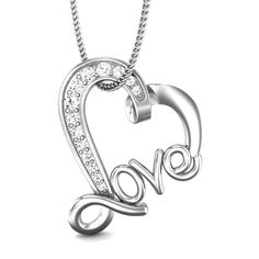 Even though it is twisted, it exudes love and affection. Love stories are always twisted; and it is good to be twisted. Tell a twisted tale about your love, get this attractive love diamond pendant and celebrate happiness this Valentine's. #ValentineJewellery #LovelyJewellery #Sweetheart #PrettyJewellery #HeartPendant #LovePendant #attractive