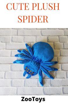 Big blue spider plush stuffed animal toy halloween spider customiz spider baby toy spider