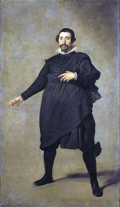 Diego Velázquez, Pablo de Valladolid (Il comico), 1632-1633. Olio su tela, cm. 209 × 123. Museo del Prado, Madrid
