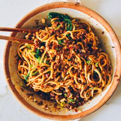Easy Chinese Recipes, Asian Recipes, Healthy Recipes, Ethnic Recipes, Szechuan Recipes, Asian Noodle Recipes, Peanut Recipes, Dan Dan Noodles Recipe, Asian Cooking