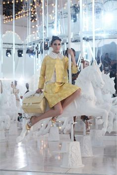 Carousel: Louis Vuitton Spring 2012. Some day I will have Pinup Photos taken on a Carousel.