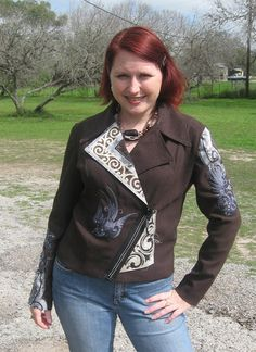 Steampunk embroidered jacket!  We can get the designs from urbanthreads.com
