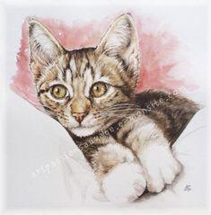 Chat aquarelle
