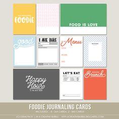 Image of Foodie Journaling Cards (Digital)