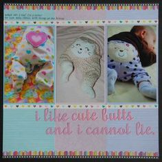 Cute baby scrap book page layouts
