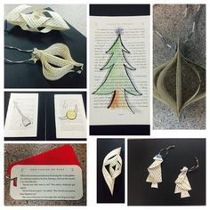Book crafts for Harry Potter-inspired holiday Yule Ball. #harrypotter #bookcrafts